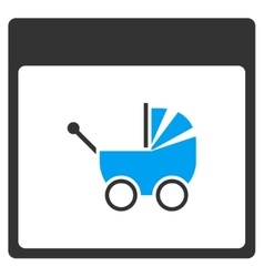 Baby Carriage Calendar Page Toolbar Icon vector