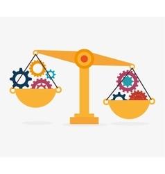Balance idea gear design isolated vector