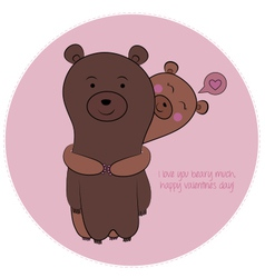 Bear valentine vector