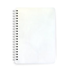 Blank realistic spiral notepad EPS 10 vector
