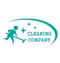 Blue cleaning symbol vector