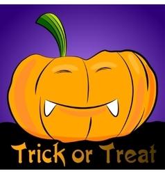 Cartoon halloween pumpkin vector image