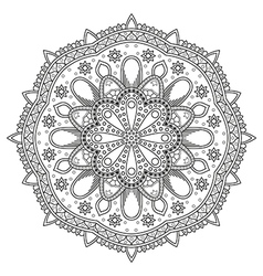 Circle floral pattern vector