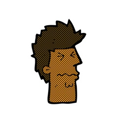 Comic cartoon stressed out face vector