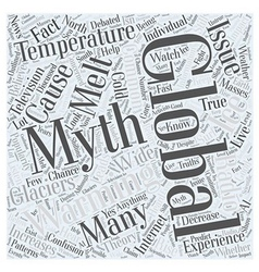 Common Global Warming Myths Word Cloud Concept vector