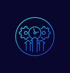 Efficiency efficient growth icon line art vector
