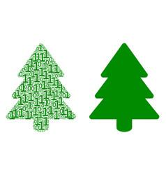 Fir-tree mosaic of binary digits vector