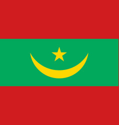 flag of mauritania official colors and proportions vector image
