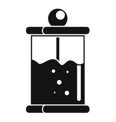 french press icon simple style vector image