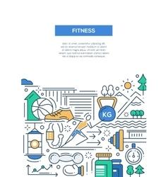 Ftness - line design composition vector image