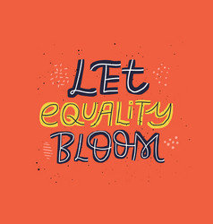 gender equality hand drawn message vector image