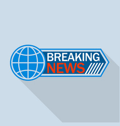 global breaking news logo flat style vector image