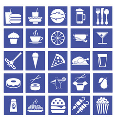 graphic flat icons fast food vector image