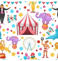 Gypsy Circus Pattern vector