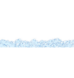 Hand drawn horizontal background with fluffy vector