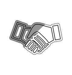 Handshake pictogram symbol vector image