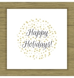 Happy Holidays card vector