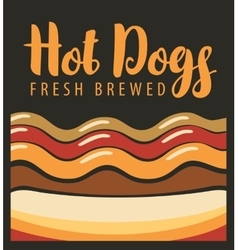 Hot dog in retro style vector
