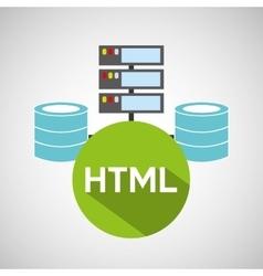 Html language data base storage vector