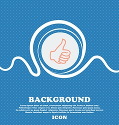 Like sign icon Thumb up symbol Hand finger-up Blue vector