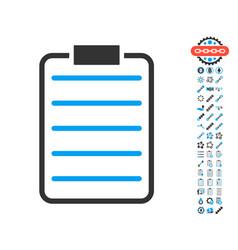 list page icon with bonus symbols vector image