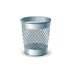 metal office dustbin for paper ejection vector image