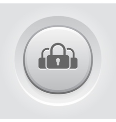 Multikey security services icon flat design vector