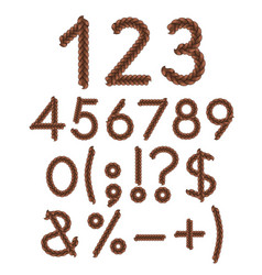 Numbers and signs braids vector