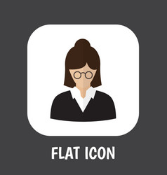 of job symbol on teacher flat vector image