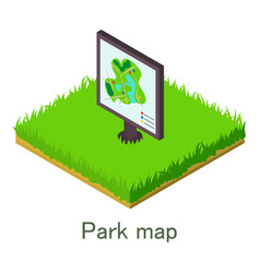 park map icon isometric style vector image