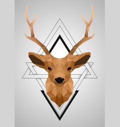 polygonal low poly deer design vector image