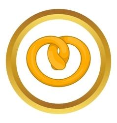 Pretzel icon vector