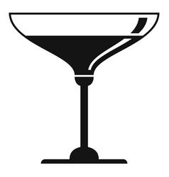 prosecco wineglass icon simple style vector image