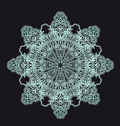 radial geometric ornament vector image