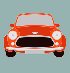 red classic car front vector image