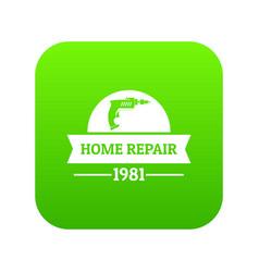 repair car icon green vector image