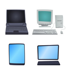 Retro computer item classic antique technology vector