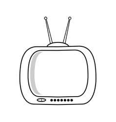 Retro TV isolated on white background vector image