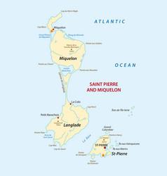 Saint pierre and miquelon map vector