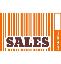 Sales word build in bar code vector