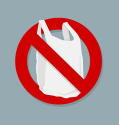 say no plastic bags sign isolated vector image