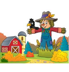 scarecrow theme image 6 vector image