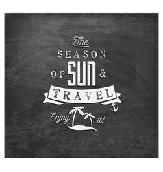 season of sun and travel - calligraphy vector image