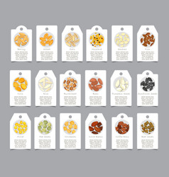seasoning seeds on paper cards as sign vector image
