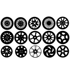 Set of different rims vector