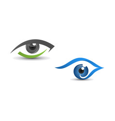 set of eyes abstract design vector image