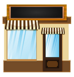 Shop design with glass window vector