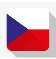 Simple flat icon Czech Republic flag vector image