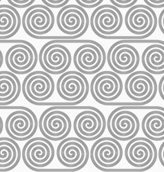 Slim gray striped spiral rolls vector