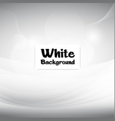 smooth abstract white soft background image vector image